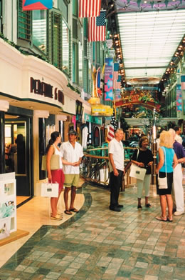 Royal Promenade on the Adventure of the Seas