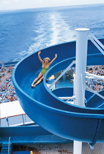 Water Slide on Carnival Pride