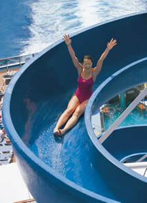 Water slide on a Carnival Cruise