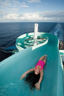 Water Slide on a Carnival Cruise Ship