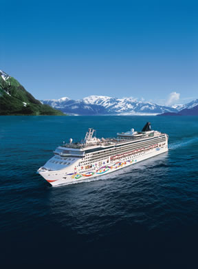 Norwegian Cruise Ship sailing to Alaska from Vancouver