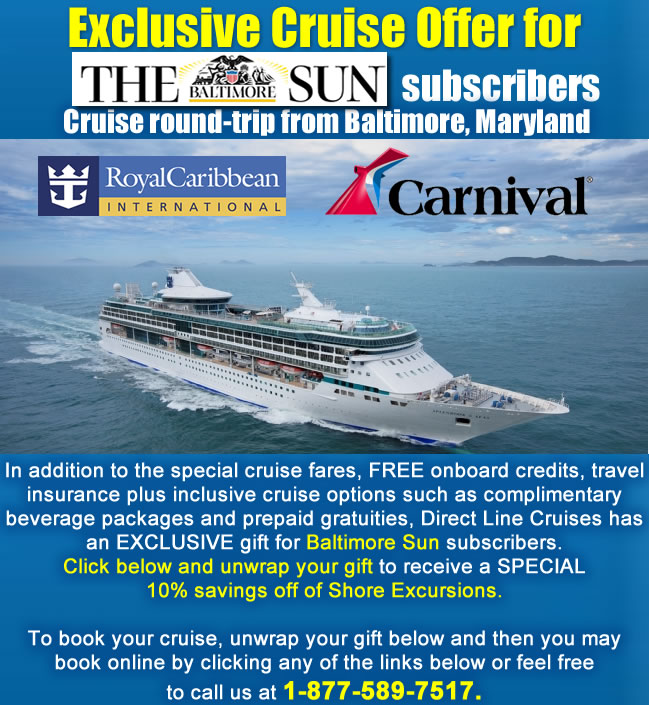 Special Cruise Offer For Baltimore Sun Subscribers - Cruise ships that leave from baltimore md