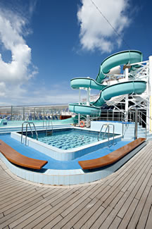 Waterpark on the Carnival Victory