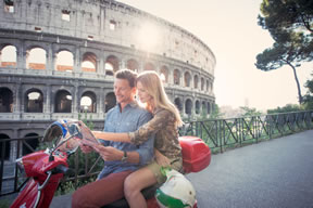 Couple visiting Rome