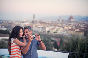 Couple on a Celebrity cruise tour in Istanbul, Turkey