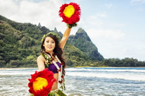 Hula Girl in Hawaii