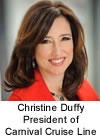 Christine Duffy President of Carnival Cruise Line
