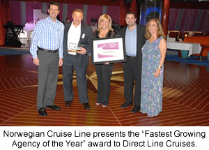 Norwegian Cruise Line Fastest Growing Travel Agency Award