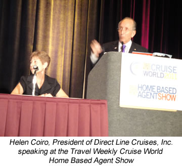 Helen Coiro speaking at the Travel Weekly Cruise World Home Based Agent Show