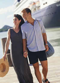 Couple on a shore excursion with Holland America