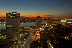 City of New Orleans at Night