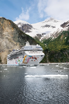 Norwegian cruise ship in Alaska