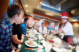 Teppanyaki Specialty Dining on the Norwegian Star