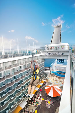 Zip Line on Oasis of the Seas