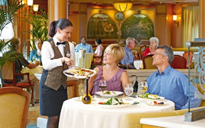 Dining onboard a Princess Cruise Ship