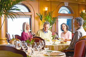 Dining on the Caribbean Princess