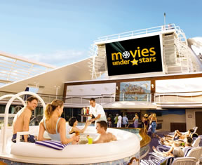 Movies under the stars on the Caribbean Princess