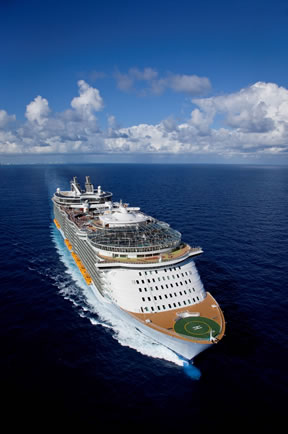 Royal Caribbean cruise ship from Port Canaveral