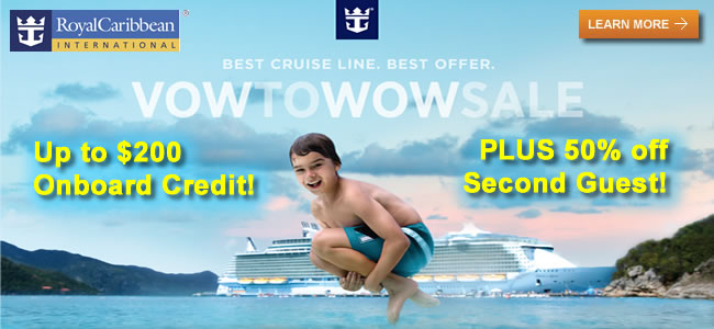 Royal Caribbean Vow To WOW Sale