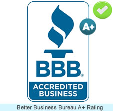 A+ Better Business Burea Rating